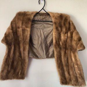 Vintage Auburn Mink Fur Stole